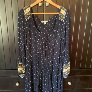 American Eagle boho peasant dress